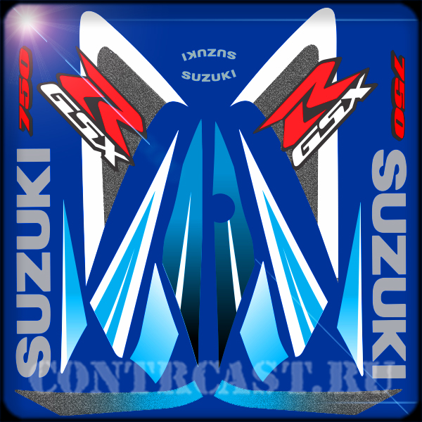 sticker for motorcycle SUZUKI GSX-R 750 2006