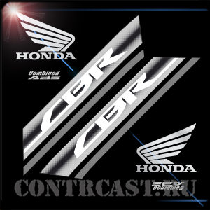 set of stickers on motorcycle Honda CBR600F
