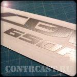 sticker set on motorcycle Honda CBR650F