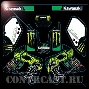 set or stickers on motorcycle Kawasaki KDX250