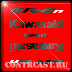 sticker set on motorcycle Kawasaki_er-6n