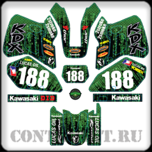 Stickers set for KDX250R 1991-1994