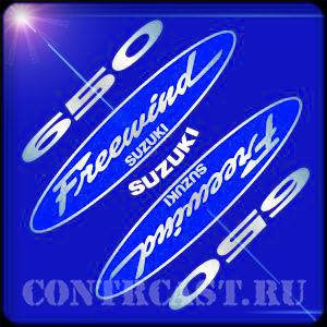 "stickers for motorcycle SUZUKI XF650 AC ""FREEWIND"" 1999"