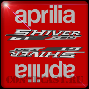 Set of stickers on motorcycle APRILIA SHIVER 750 GT