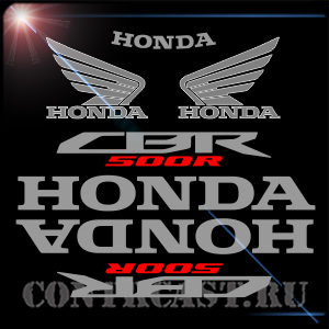 set of sticker on Honda CBR500R