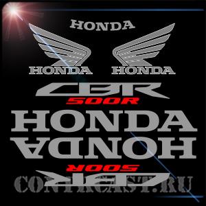 set of sticker on Honda CBR500R