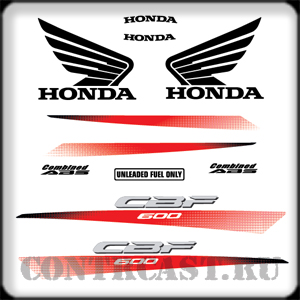 stickers set cbf600 2010