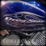 Sticker on YAMAHA DragStar
