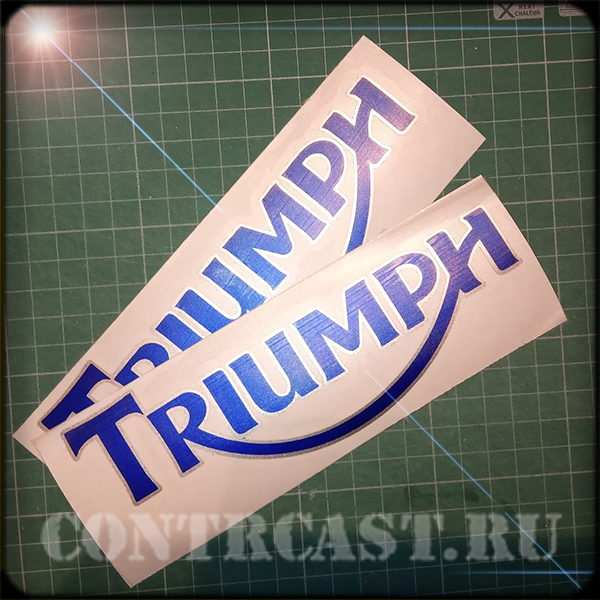 stickers on motorcycle Triumph Street