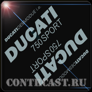 stickers for motorcycle DUCATI desmodue i.e. 750 SPORT