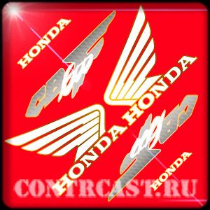 stickers set on motorcycle honda cb600f hornet