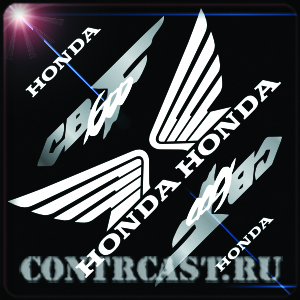 stickers on motorcycle Honda Hornet