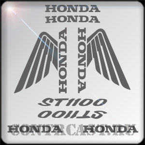stickers on Honda ST1100 Pan-European sport touring.