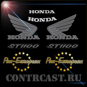Honda ST1100 Pan-European sport touring stickers set