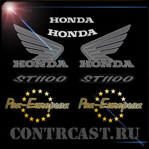 Honda ST1100 Pan-European sport touring stickers set