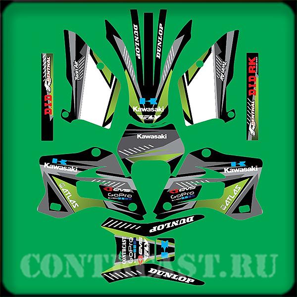 Kawasaki kdx220 sticker set