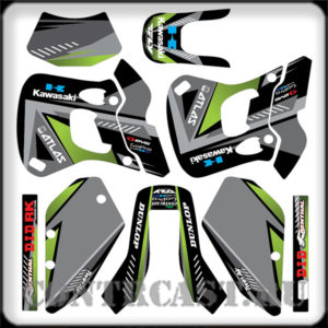Kawasaki KDX250R 1991-1995 decals set