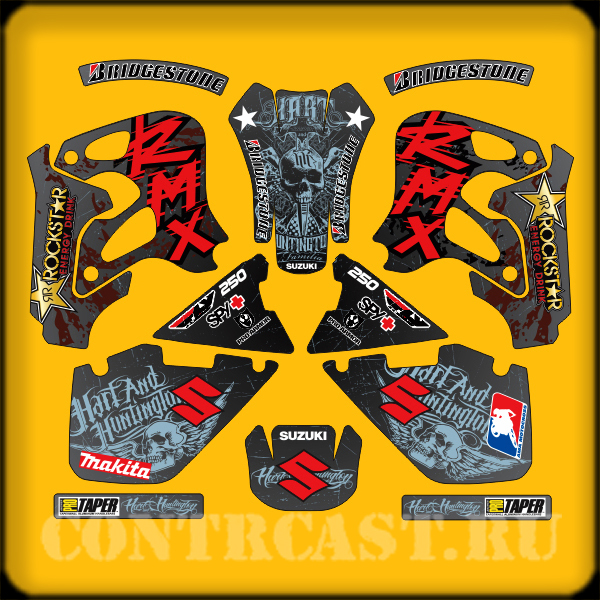 stickers on SUZUKI RMX 250 1998
