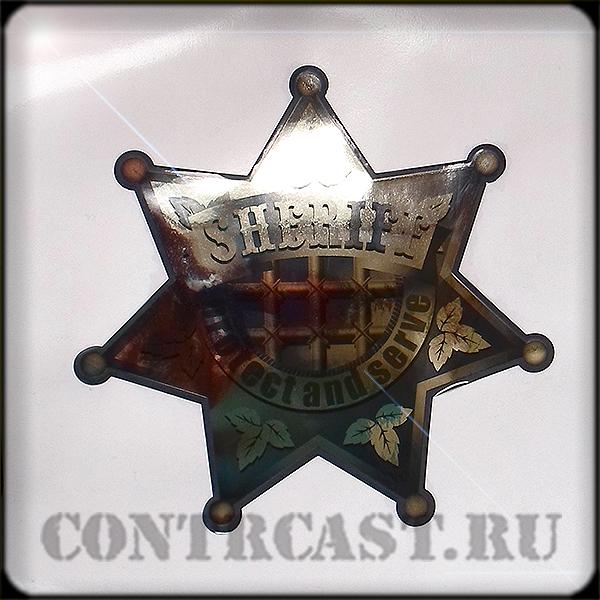 Sheriff's star stickers