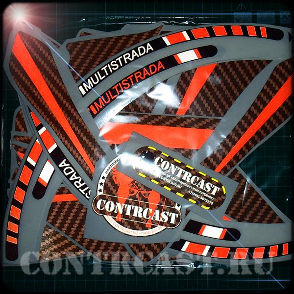 Sticker of set on motorcycle Ducati 1200S Multistrada 2012