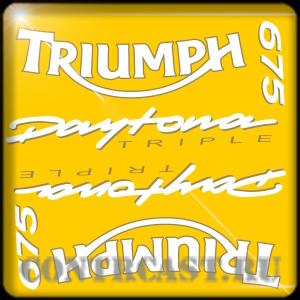 stickers Triumph Daytona 675 TRIPLE