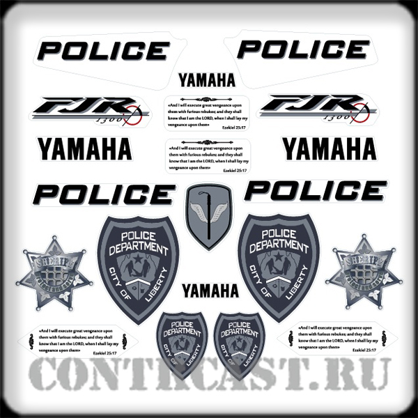 YAMAHA FJR1300 decals for decoration