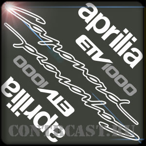 aprilia caponord stickers set