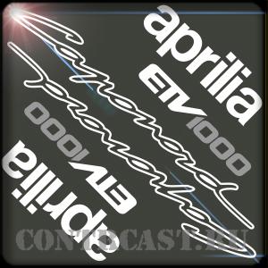 aprilia caponord stickers set