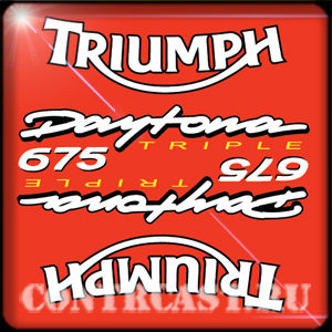 Triumph Daytona 675 triple stickers
