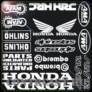 Set of stickers on motorcycle HONDA