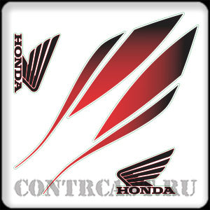 stickers on the tank honda hornet 2010