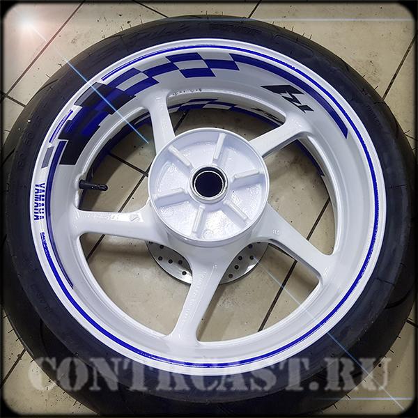 stripe on motorcycle wheels