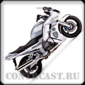 """stickers on motorcycle YAMAHA FJR1300 """"POLICE"""""""