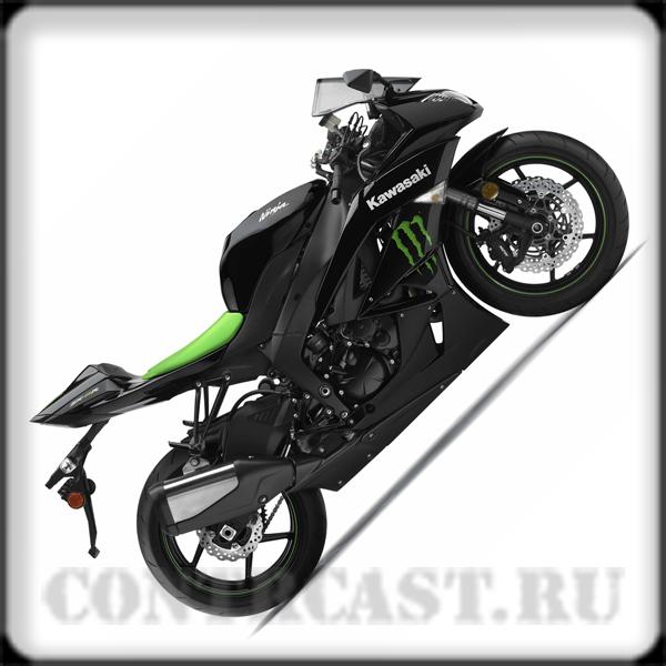 """Kawasaki ZX-6R Ninja 2009 """"Monster energy"""""""