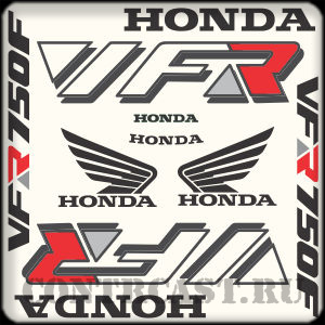 HONDA VFR 750F 1993 decals