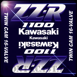 stickers on Kawasaki ZZR 1100