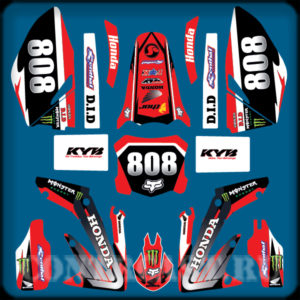 Honda crf 250R set of stickers