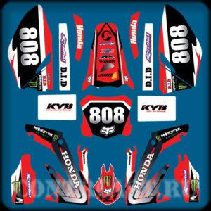 Honda crf 250R set of stickers
