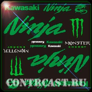 kawasaki stickers set