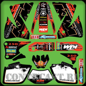 Set for motocross KTM EXC250 2002