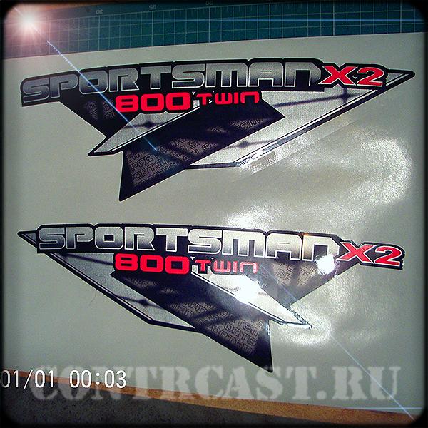 stickers on ATV Polaris Sportsman X2 800 twin