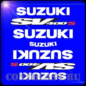 suzuki sv400s 1998 stickers on the motorcycle
