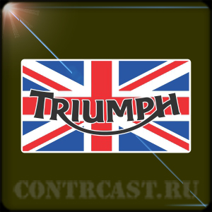 BRITISH FLAG - TRIUMPH. 2PCs